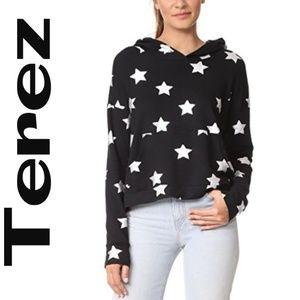 Terez Star Foil Scoop Back Hoodie  - Size Large